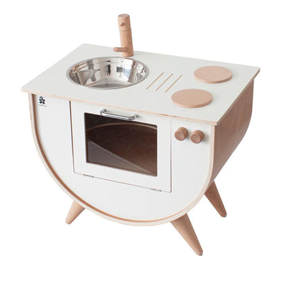 Sebra Play Kitchen - Classic White w/Wood