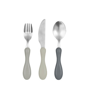 Sebra Cutlery Set of 3 – Grey