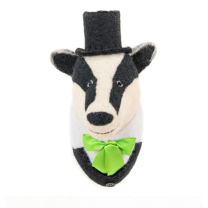 Sew Heart Felt Animal Head - Brigadier Bille Badger