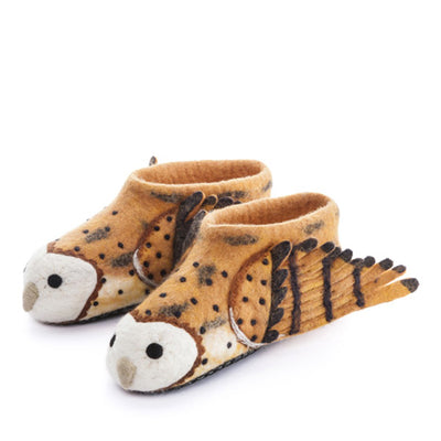 Sew Heart Felt Barney Owl Slippers – Adult