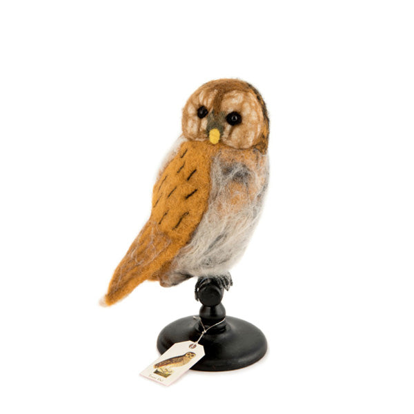 Sew Heart Felt Felt Bird Taxidermy - Tawny Owl