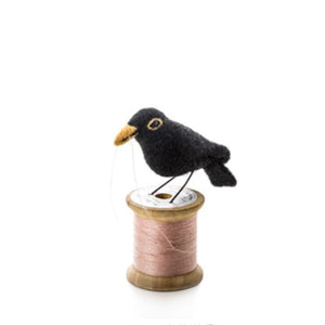 Sew Heart Felt Bird on a Bobbin - Blackbird