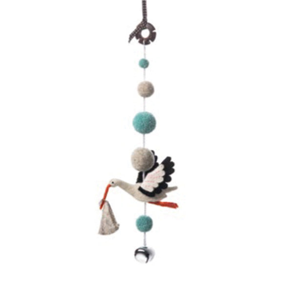 Sew Heart Felt Decorative Pom Pom Mobile - Ezra Stork