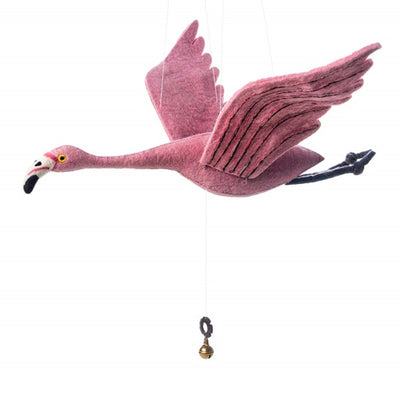 Sew Heart Felt Mobile - Flying Alice Flamingo