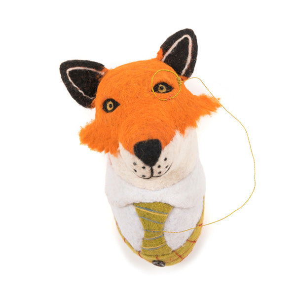 Sew Heart Felt Animal Head - Sir Finlay Fox Head