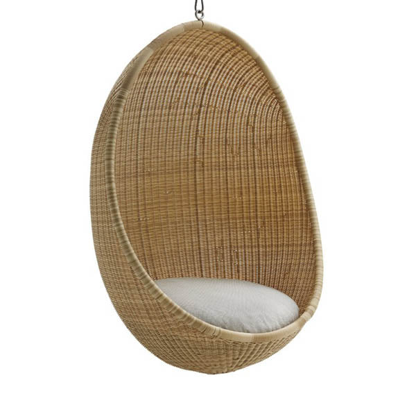 Egg Chair Buiten.Sika Design Hanging Egg Chair Exterior From Nanna Ditzel Natural