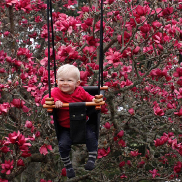 Baby Spring Schommel.Solvej Swings Baby And Toddler Swing Coral Black Elenfhant