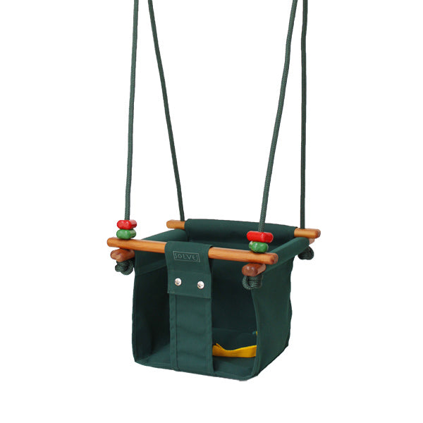 Solvej Swings Baby and Toddler Swing – Forest Green