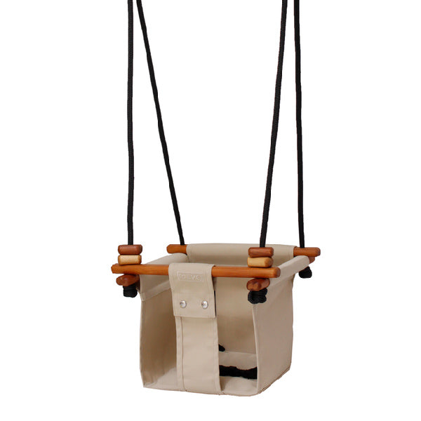 Solvej Swings Baby and Toddler Swing – Soft Linen