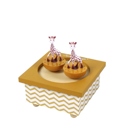 Trousselier Music Box Dancing Sophie the Giraffe - Caramel