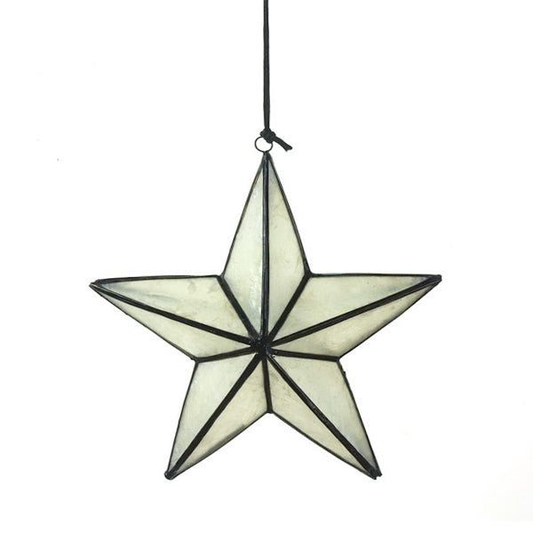Star Shaped Christmas Ornament - Black