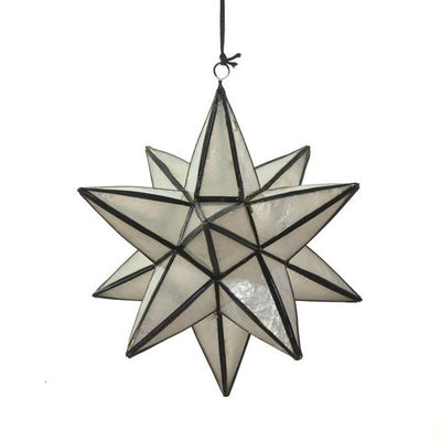 Star Polygon Shaped Christmas Ornament - Black