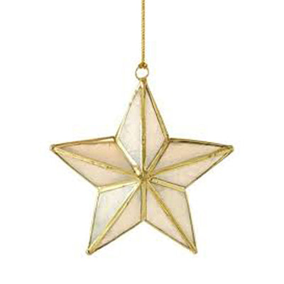 Star Shaped Christmas Ornament - Brass