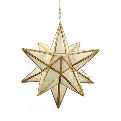 Star Polygon Shaped Christmas Ornament - Brass