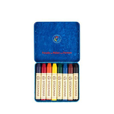 Stockmar Pure Beeswax Crayons - 8 Sticks Set with Black