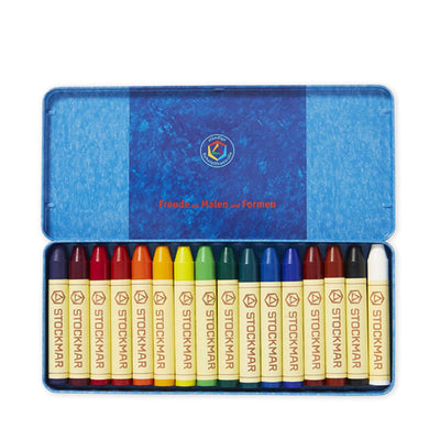 Stockmar Pure Beeswax Crayons - 16 Sticks in Tin