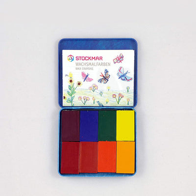 Stockmar Pure Beeswax Crayons - 8 Blocks Set