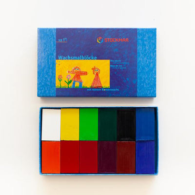 Stockmar Pure Beeswax Crayons - 12 Blocks Set