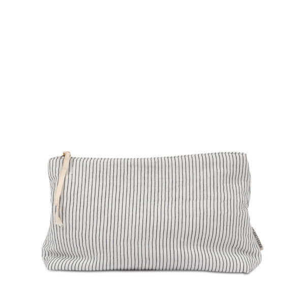 Studio Feder Pouch – Black Pin Stripe