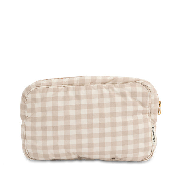 Studio Feder Toiletry Bag - Gingham Oat