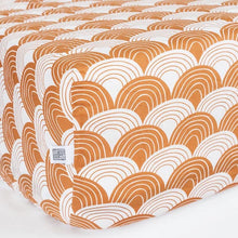 Swedish Linens Rainbows Fitted Sheet – Cinnamon Brown