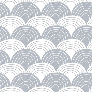 Swedish Linens Rainbows Fitted Sheet – Gray