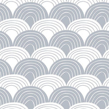 Swedish Linens Rainbows Flat Sheet – Gray