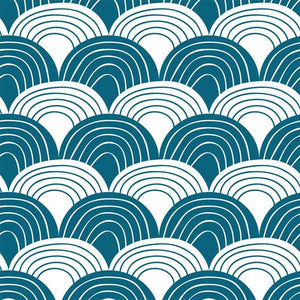 Swedish Linens Rainbows Fitted Sheet – Moroccan Blue