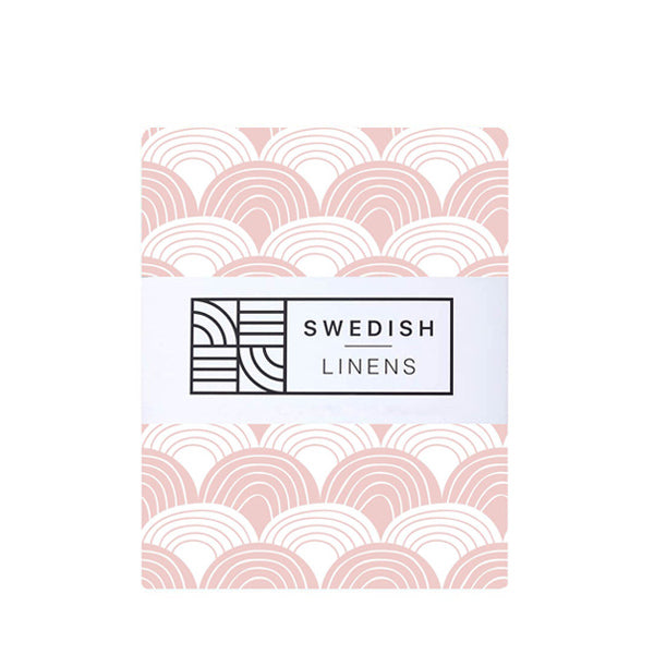 Swedish Linens Rainbows Fitted Sheet – Nudy Pink