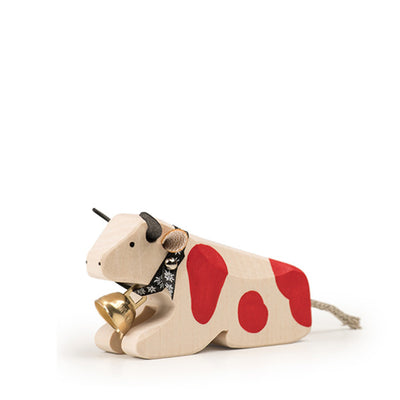 Trauffer Cow Lying - Red