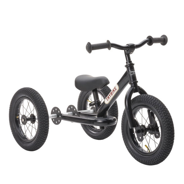 Trybike 2-in-1 Balance Bike Steel - All Black