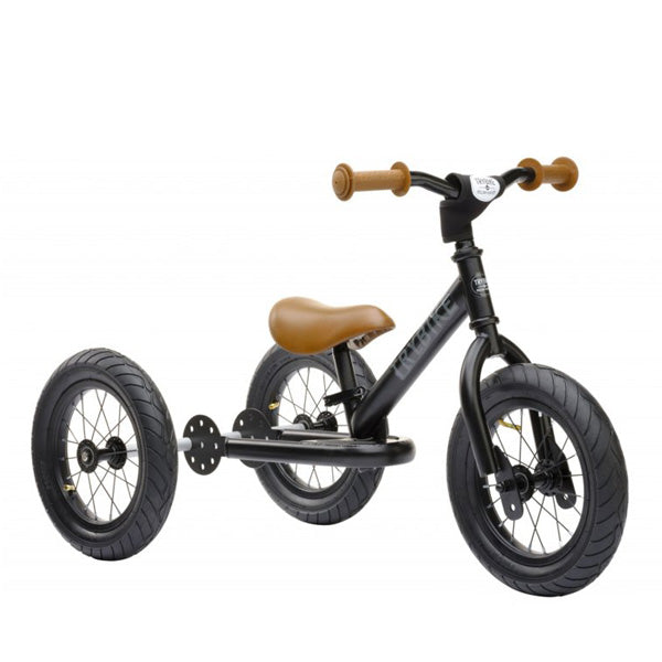 Trybike 2-in-1 Balance Bike Steel - Black