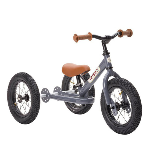 Trybike 2-in-1 Balance Bike Steel - Grey