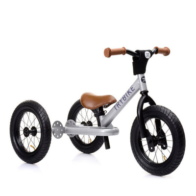 Trybike 2-in-1 Balance Bike Steel - Silver