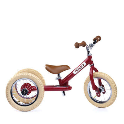 Trybike 2-in-1 Balance Bike Steel - Vintage Red