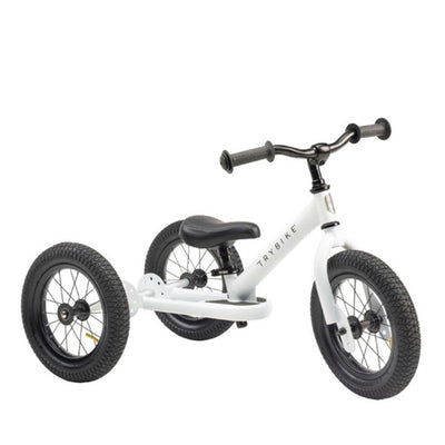 Trybike 2-in-1 Balance Bike Steel - White