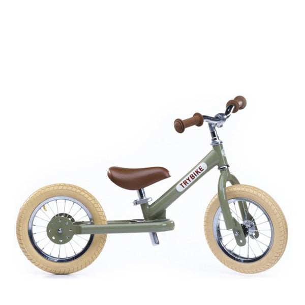 Trybike Balance Bike Steel - Vintage Green