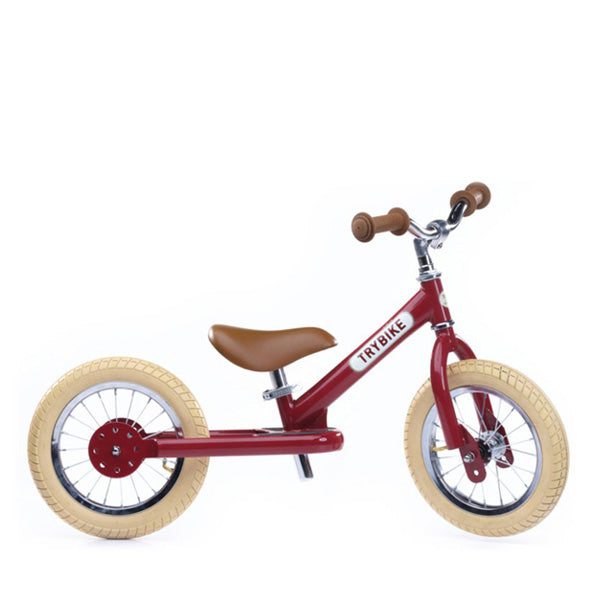 Trybike Balance Bike Steel - Vintage Red