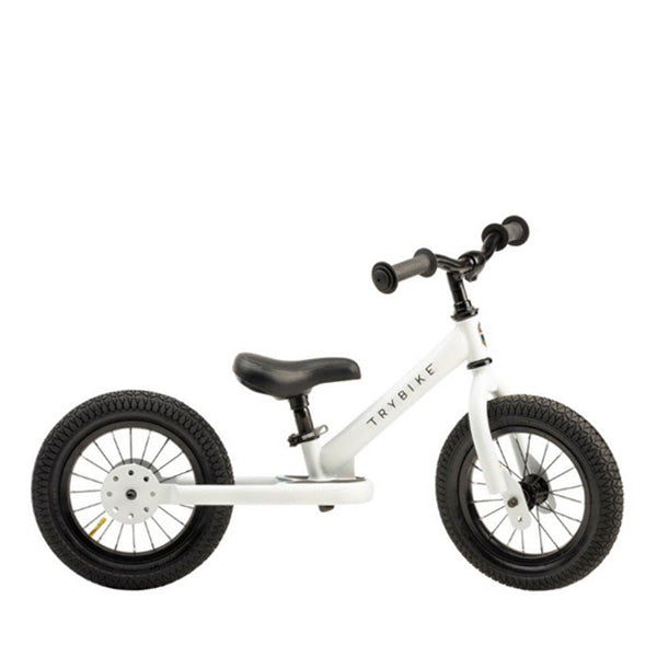 Trybike Balance Bike Steel - White