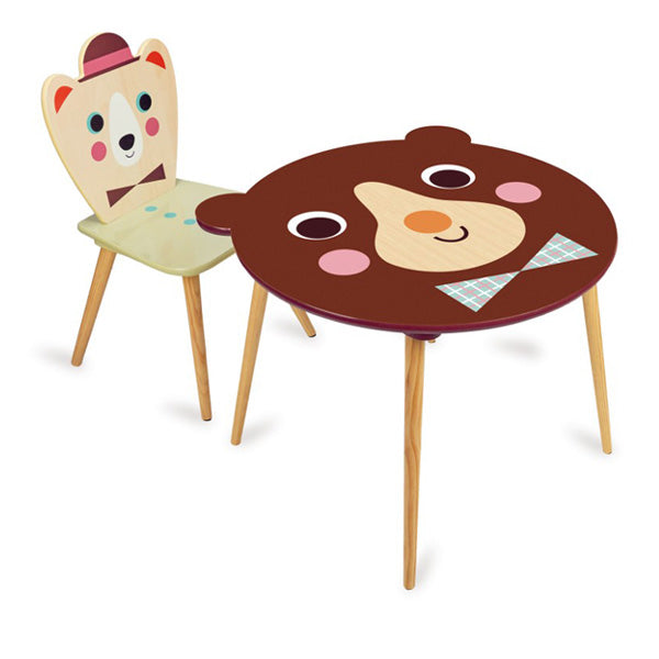 Vilac Ingela P. Arrhenius Bear Table and Chair Set