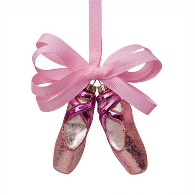 Vondels Glass Shaped Christmas Ornament - Ballet Shoe