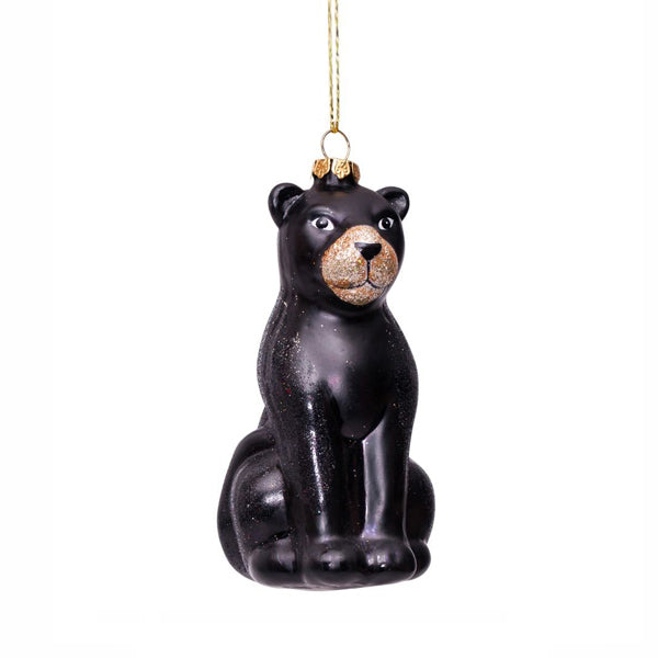 Vondels Glass Shaped Christmas Ornament - Black Panther