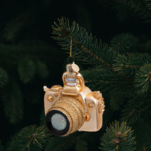 Vondels Glass Shaped Christmas Ornament - Gold Camera