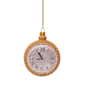 Vondels Glass Shaped Christmas Ornament - Gold Watch