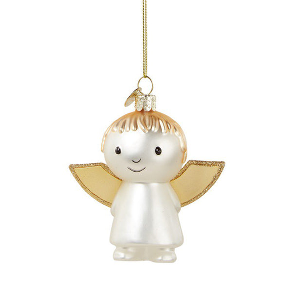 Vondels Glass Shaped Christmas Ornament - Miffy Angel