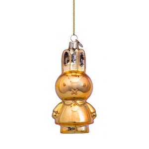Vondels Glass Shaped Christmas Ornament - Miffy Gold