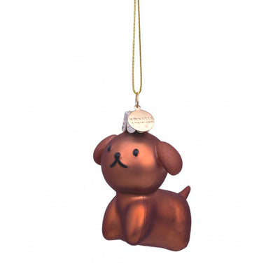 Vondels Glass Shaped Christmas Ornament - Miffy Snuffy Dog