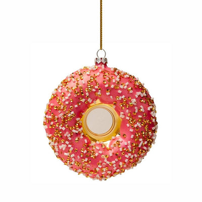 Vondels Glass Shaped Christmas Ornament - Orange Donut