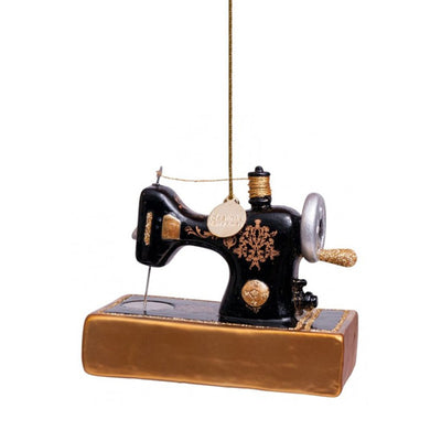 Vondels Glass Shaped Christmas Ornament - Sewing Machine