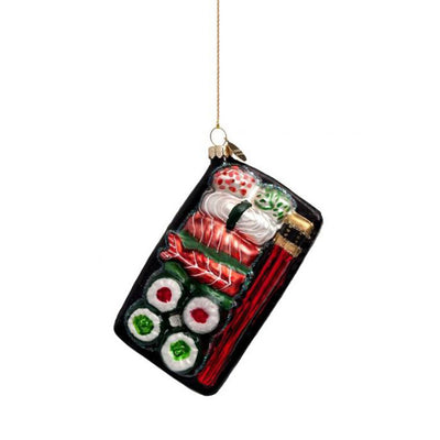 Vondels Glass Shaped Christmas Ornament - Sushi Plate